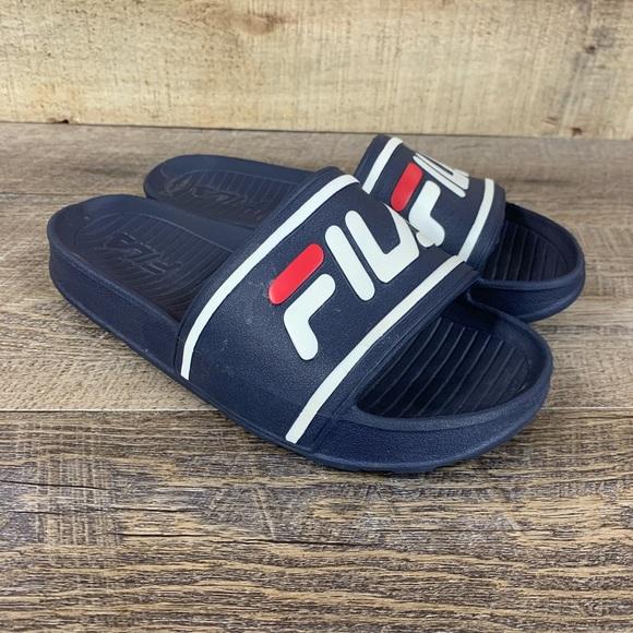 Fila Shoes | Fila Kids Sz 3 Slides Blue